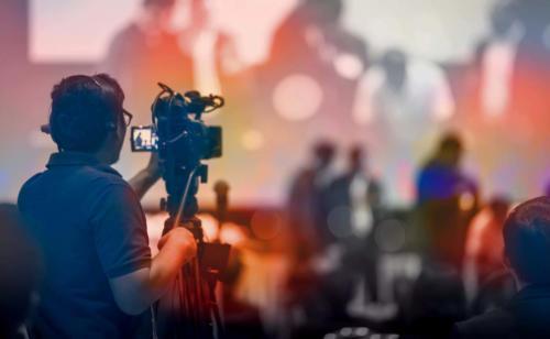 plateau TV audiovisuel de direct live